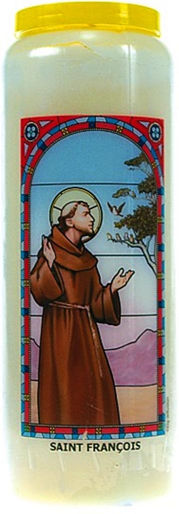 Bougie de Neuvaine ( Saint François )  24874