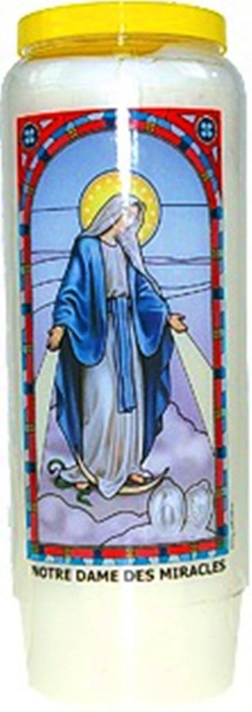 Bougie de Neuvaine ( Notre Dame des Miracles )
