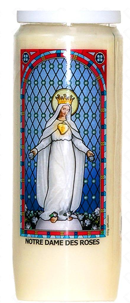 Bougie de Neuvaine ( Notre Dame des Roses )  26540