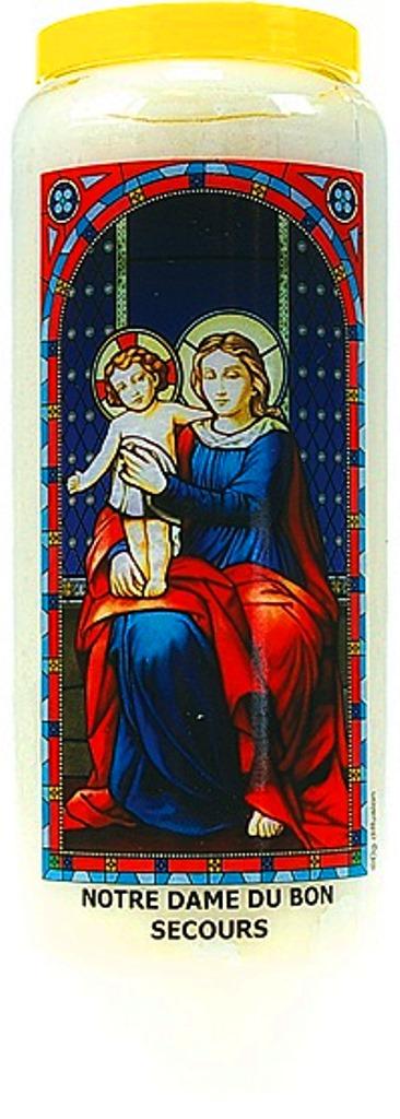 Bougie de Neuvaine ( Notre Dame du Bon Secours )
