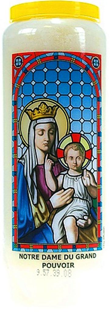 Bougie de Neuvaine ( Notre Dame du Grand Pouvoir )