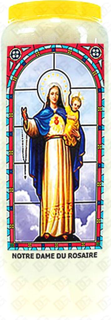 Bougie de Neuvaine ( Notre Dame du Rosaire )