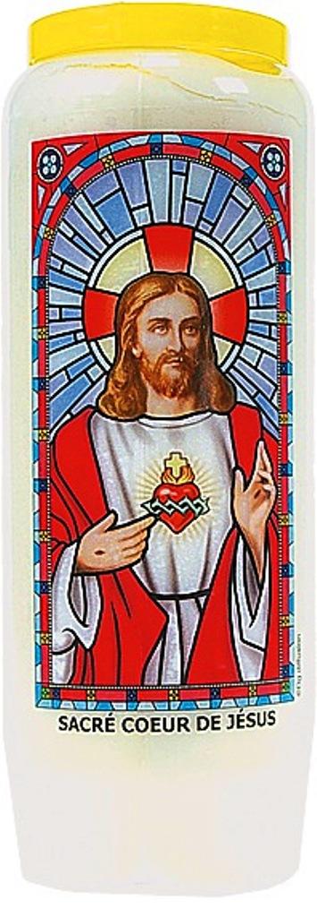 Bougie de Neuvaine ( Sacré coeur de Jésus )