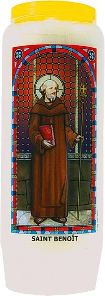 Bougie de Neuvaine ( Saint Benoît )