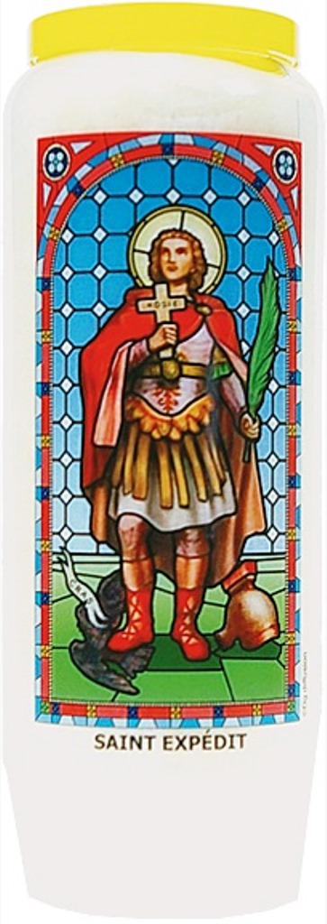 Bougie de Neuvaine ( Saint Expédit )