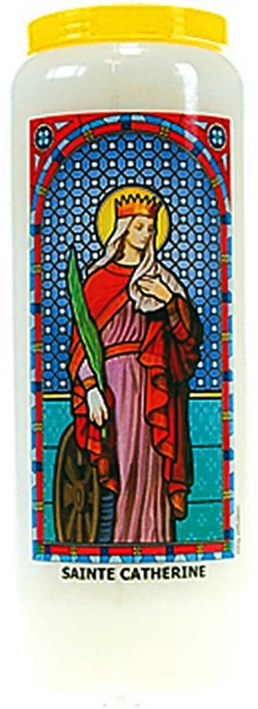 Bougie de Neuvaine ( Sainte Catherine )