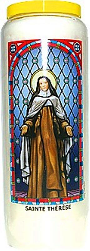 Bougie de Neuvaine ( Sainte Thérèse )