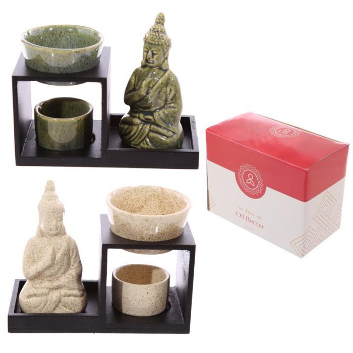 Brûleur à huile Bouddha ( Lot de 2 )