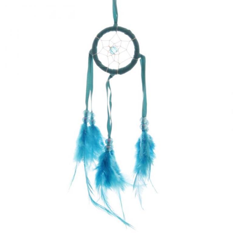 Mini attrape-rêves Bleu 5 cm