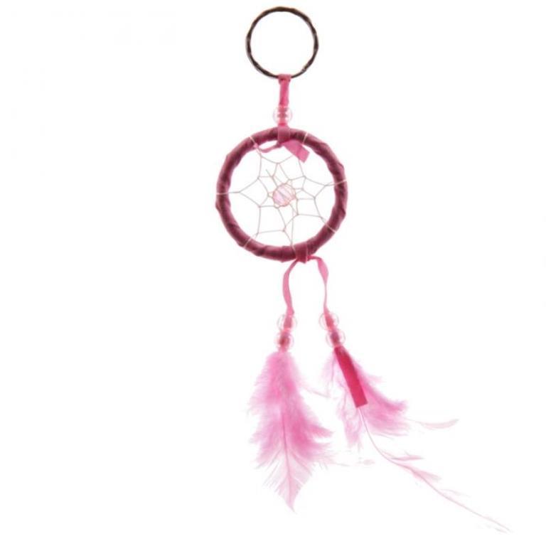 Mini attrape-rêves Porte-clés Rose 5 cm