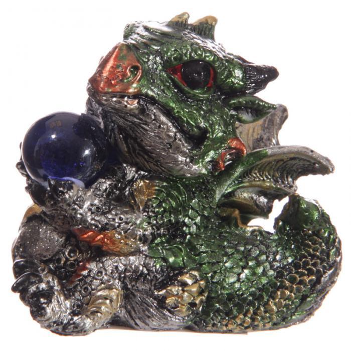 Bébé Dragon Vert avec boule