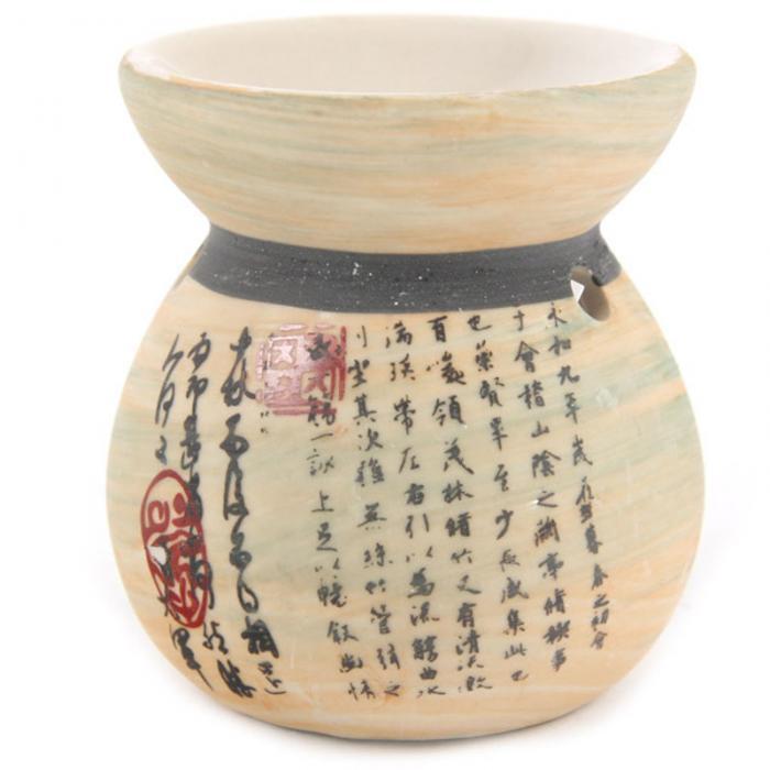 Brûleur à Huile Céramique  Lettres Chinoises