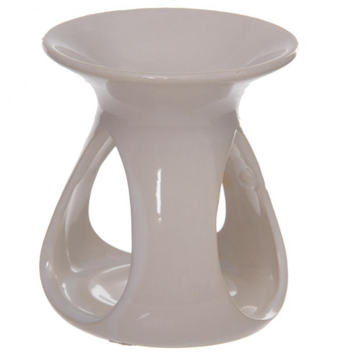 Brûleur à Huile Céramique Blanc - piliers goutes  OB115B (2)