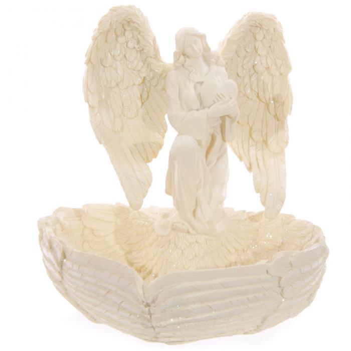 Ange avec Récipient en forme de Coeur \'Ailles\'