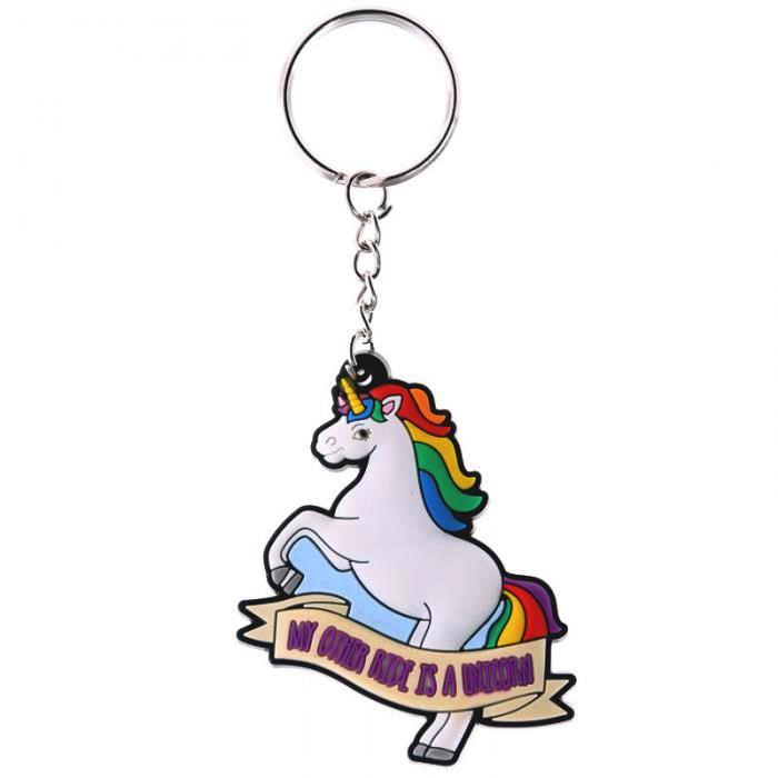 Porte-clefs Licorne - My other ride is a unicorn