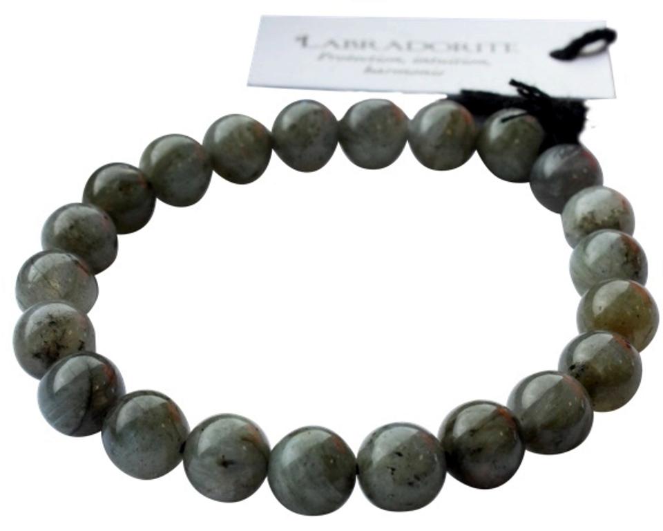 Bracelet Labradorite Perles Rondes (8 mm)