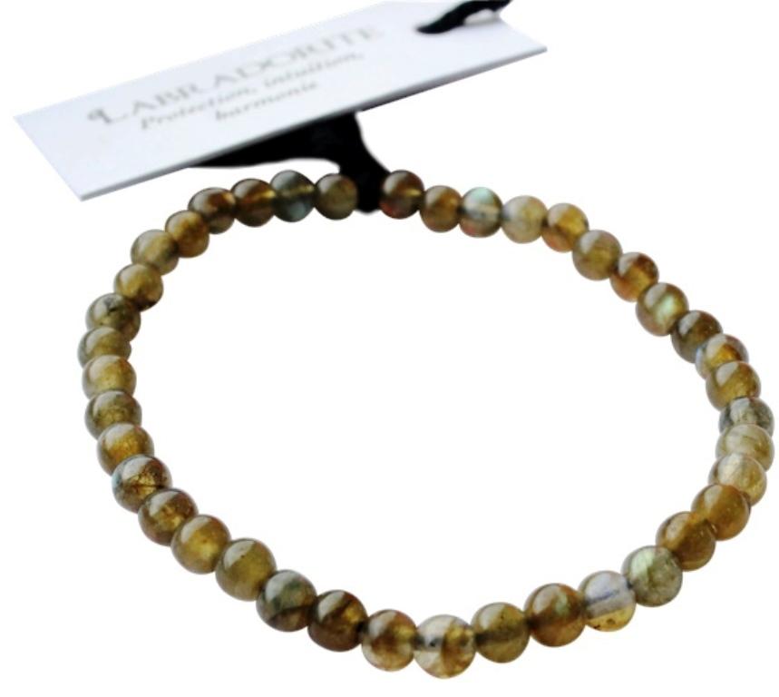 Bracelet Labradorite - Perles Rondes de 4 mm