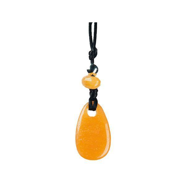 Pendentif Pierre de vertu - Calcite orange