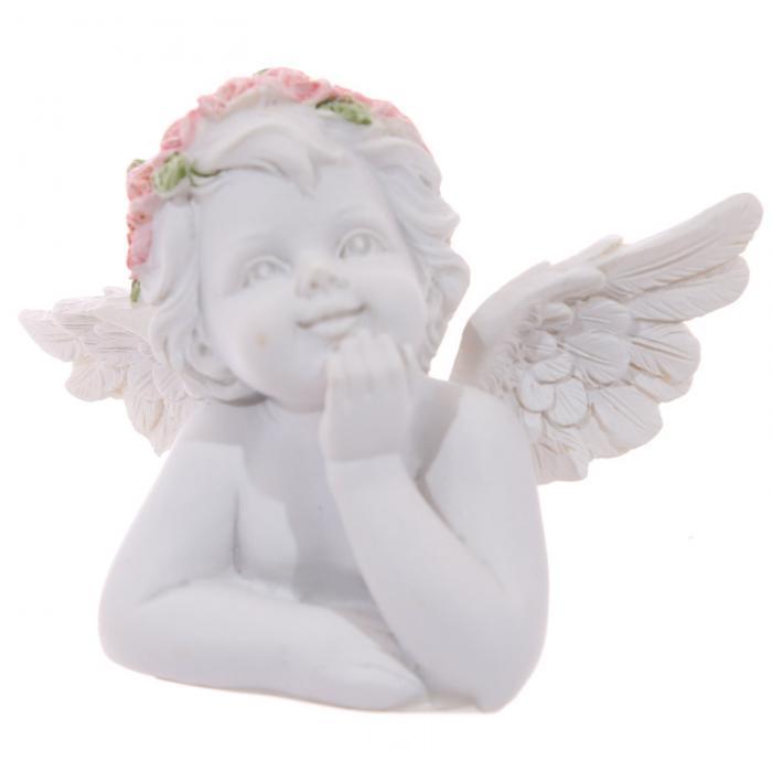 Buste de Chérubin Accoudé - Bras levée