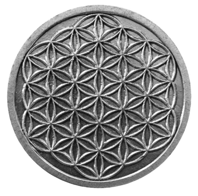 Pièce Sacrée Fleur de Vie - 4 cm