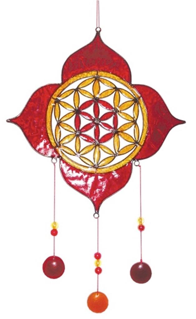 Attrape Soleil - Fleur de Vie et Lotus (20 cm diam.)