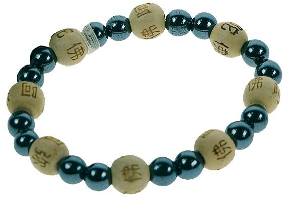 Bracelet Perles de karma Hematite ( Adulte )