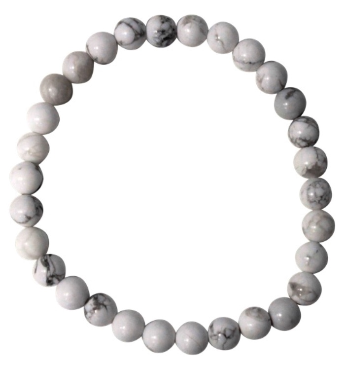 Bracelet Howlite Perles Rondes ( 6 mm )