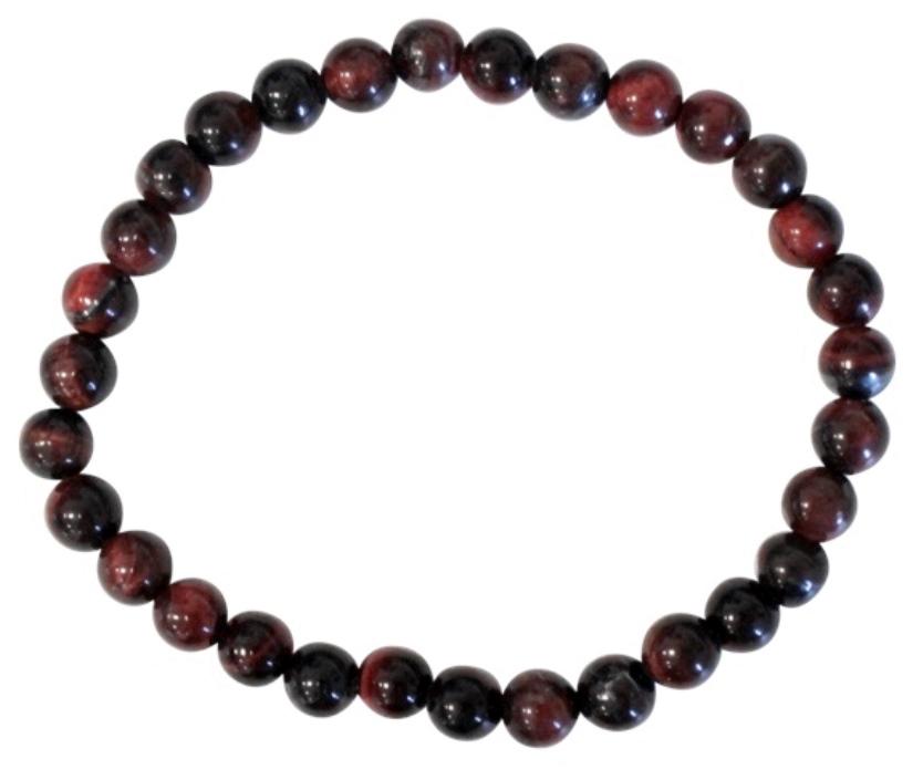 Bracelet Oeil de Taureau Perles Rondes ( 6 mm )