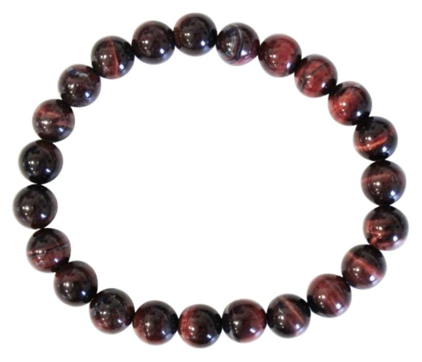 Bracelet Oeil de Taureau Perles Rondes (8 mm)