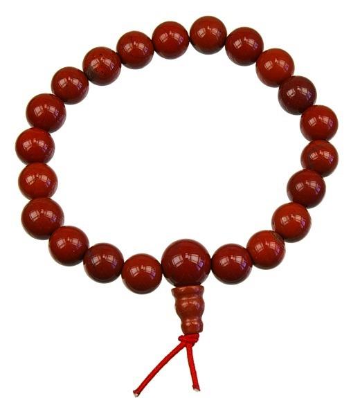 Bracelet mala - Jaspe Rouge