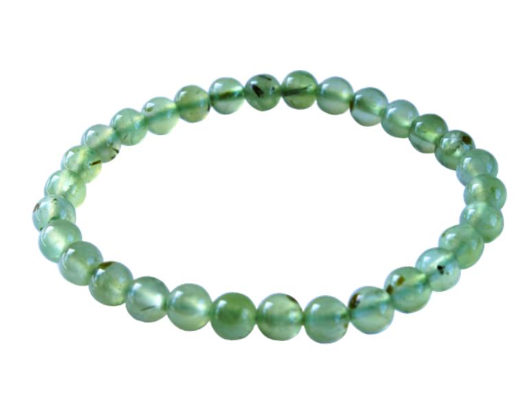 Bracelet Phrénite Perles Rondes - 8 mm