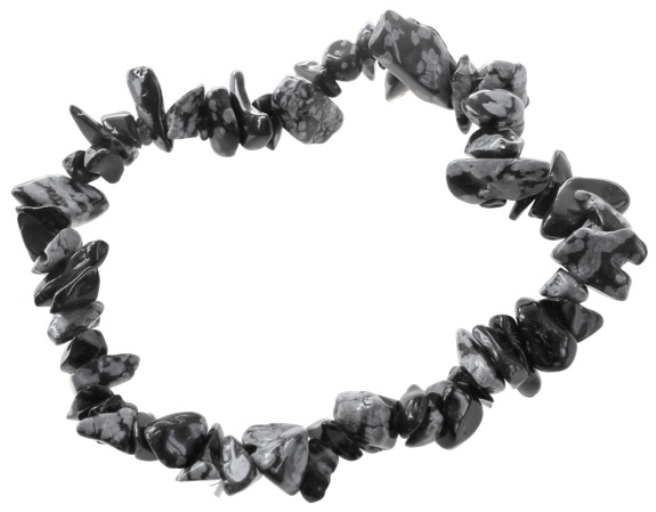 Bracelet Obsidienne flocon ( Baroque )