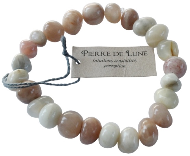 Bracelet Pierre de Lune Nuggets ( 8 mm )