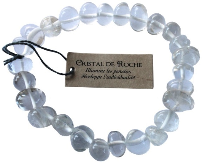 Bracelet Cristal de Roche Nuggets ( 8 mm )