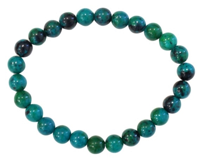 Bracelet Chrysocolle Perles Rondes (8 mm)