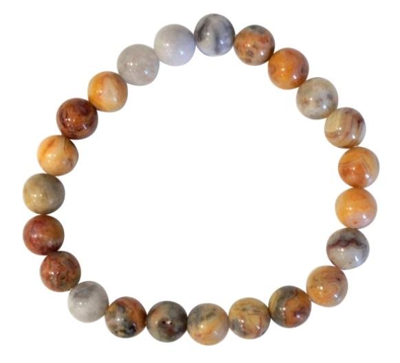 Bracelet Agate Crazy Lace Perles Rondes (8 mm)