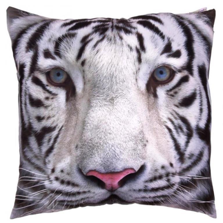 Coussin Tigre Blanc (50 x 50cm)