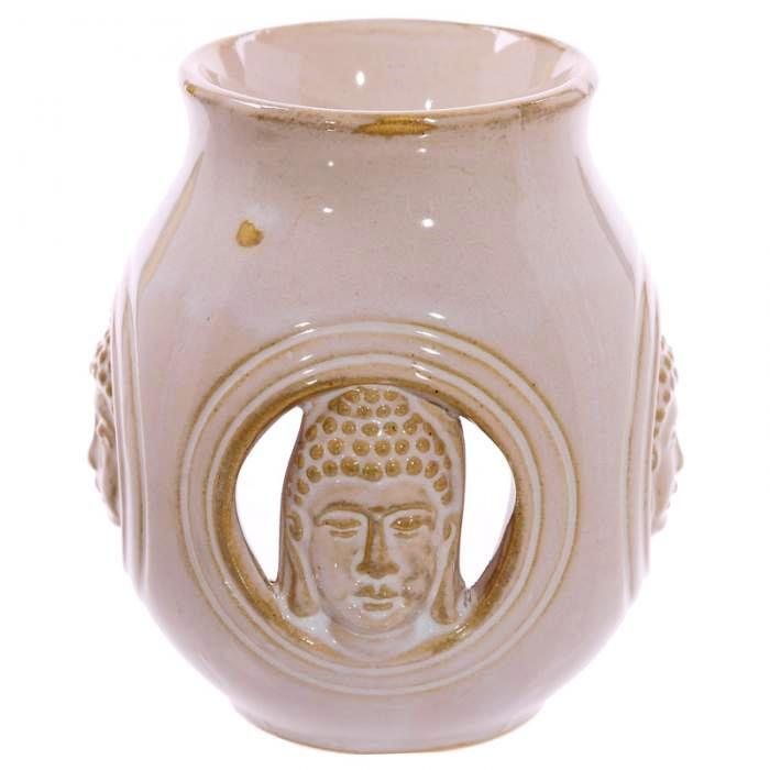 Brûleur à Huile Bouddha - Blanc (Céramique)