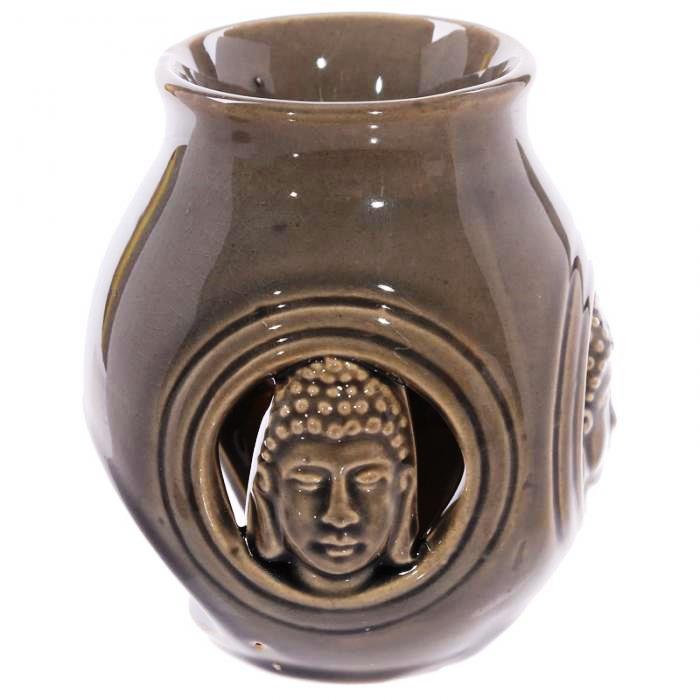 Brûleur à Huile Bouddha - Vert (Céramique)