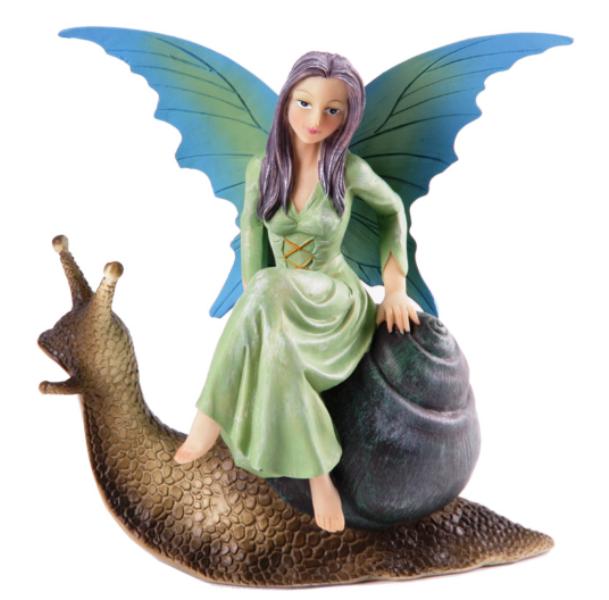Figurine Fée Sur Escargot (par Natasha Faulkner)