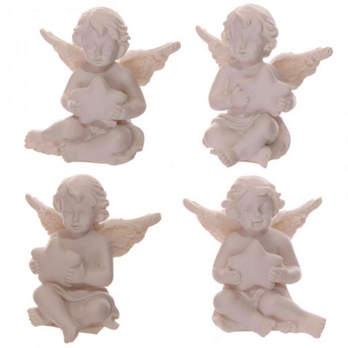 Statuette mini Ange avec Etoile (lot de 4)