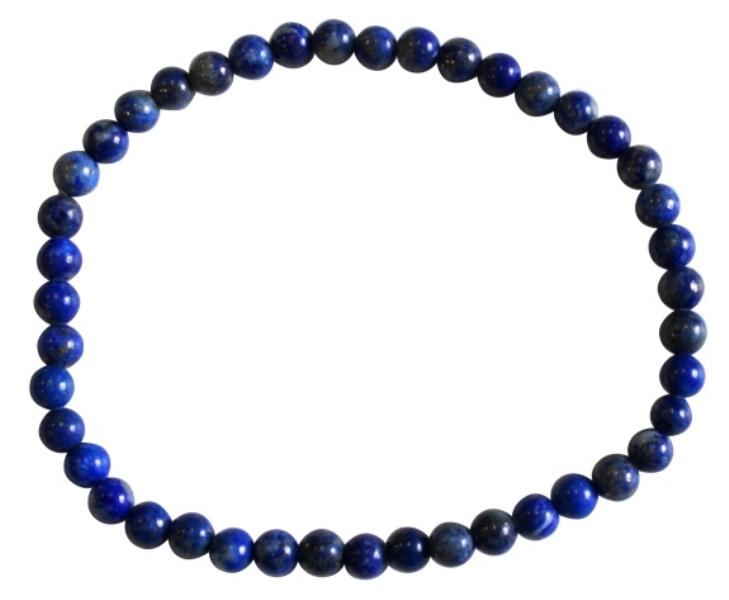 Bracelet Lapis Lazuli Perles Rondes (4 mm)