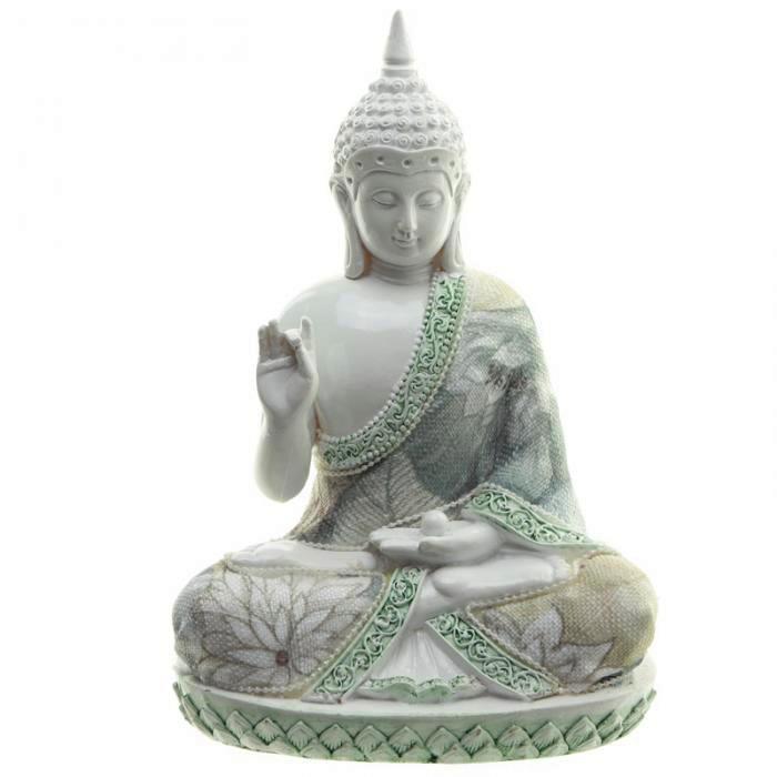 Bouddha Thaï Sagesse Blanc (17cm)
