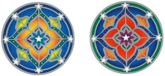 Autocollant Attrape Soleil - Mandala Harmonie - Lot de 2