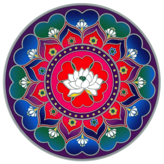 Autocollant Attrape Soleil - Mandala Coeur de Lotus