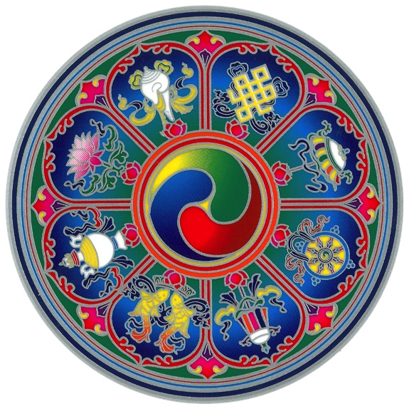 Autocollant Attrape Soleil - Symboles Tibetian Propices