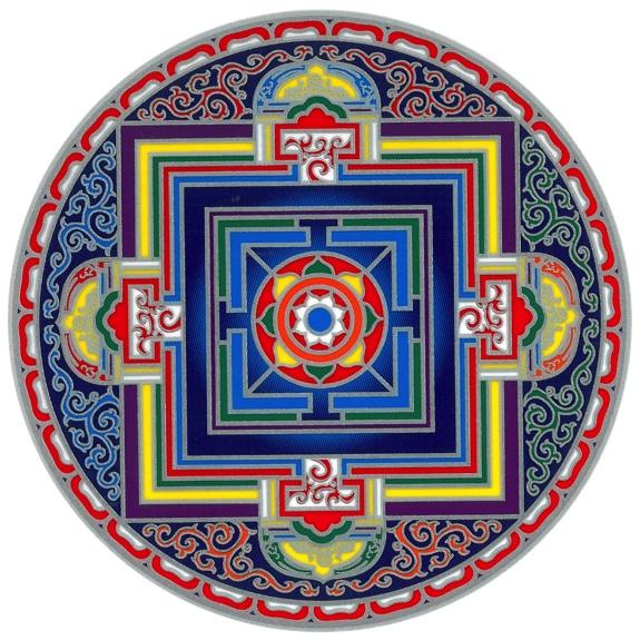 Autocollant Attrape Soleil - Mandala Vajra