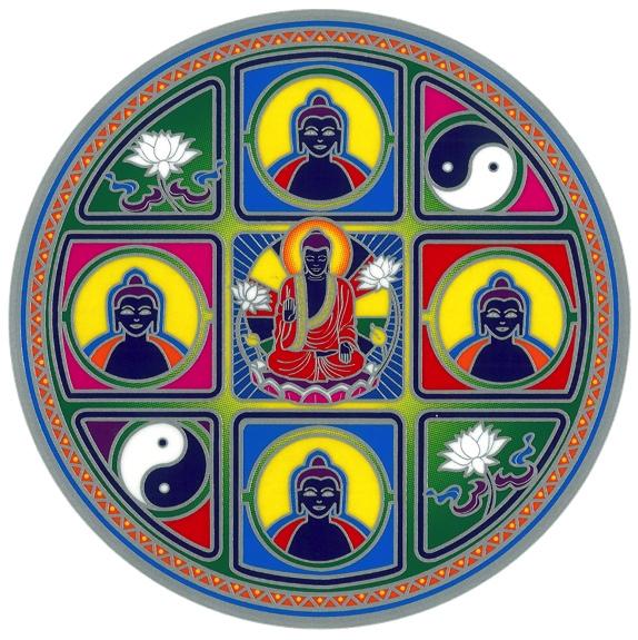 Autocollant Attrape Soleil - Bouddha Méditation