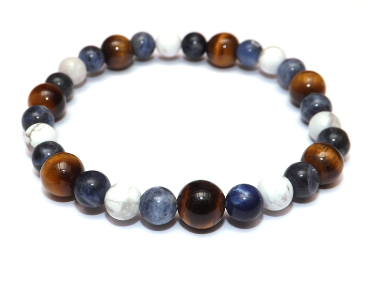 Bracelet Oya Oeil de Tigre - Sodalite - Howlite