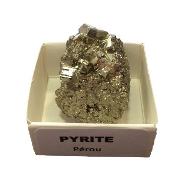 Pyrite du Pérou Pierre Brute | Bloc 3 x 4 cm